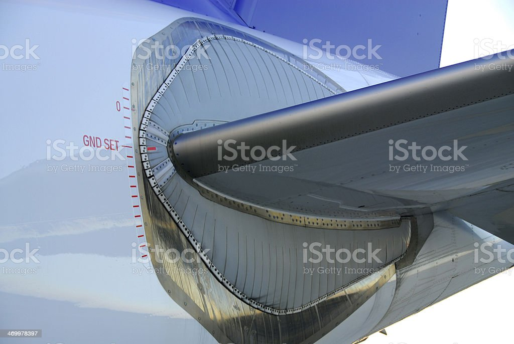 Aircraft trimmable horizontal stabilizer (THR) stock photo