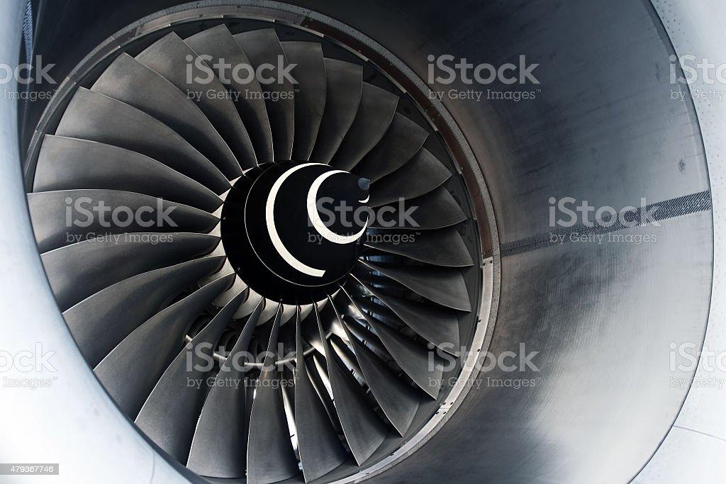 Aircraft Turbofan Engine stock photo