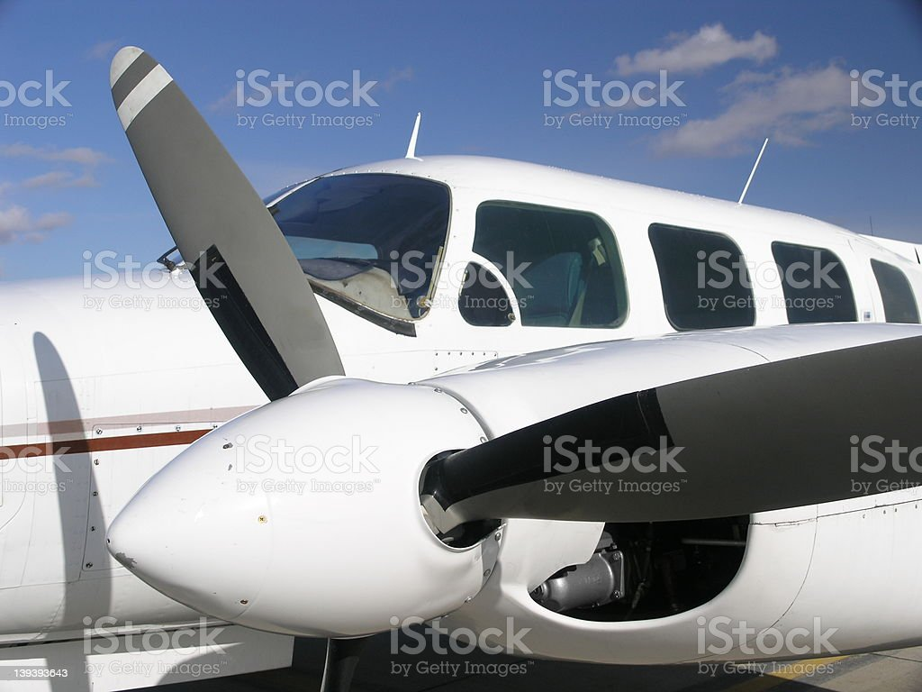 Aircraft , Twin Engine, Side View royalty-free stock photo