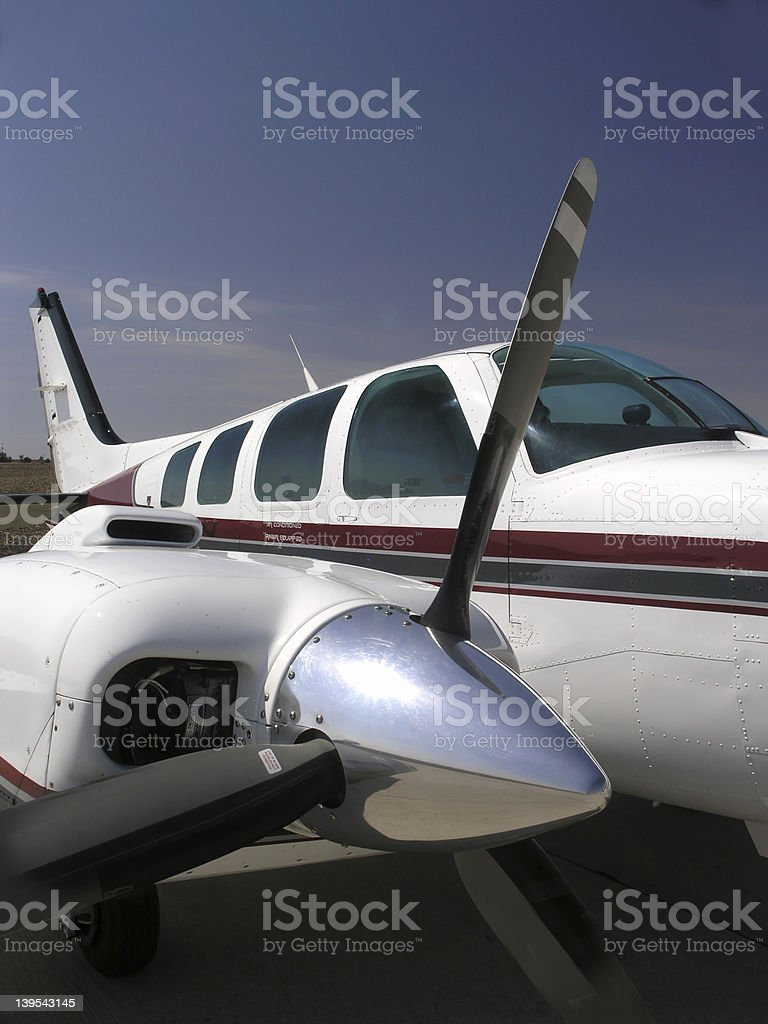 Aircraft, Twin Engine - Side View royalty-free stock photo