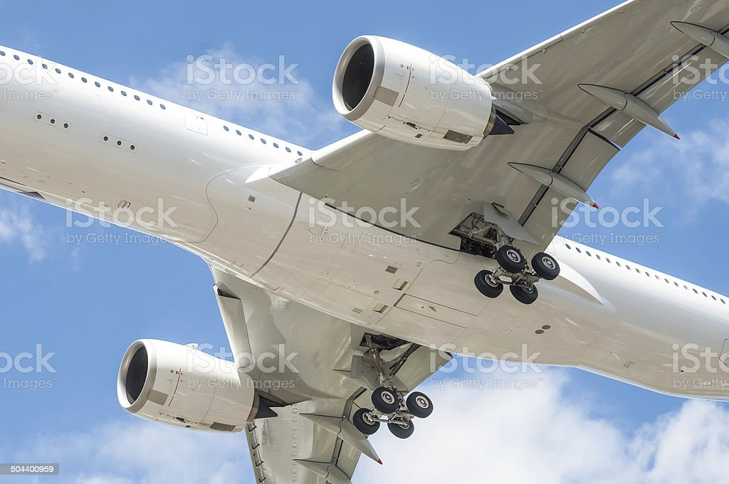 aircraft undercarriage stock photo