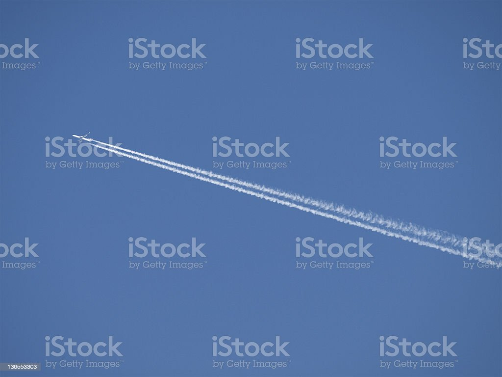 Aircraft Vapour Trail royalty-free stock photo