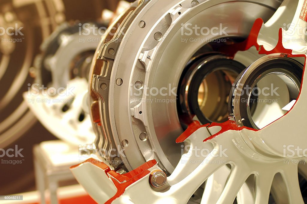 aircraft wheel assembly royalty-free stock photo
