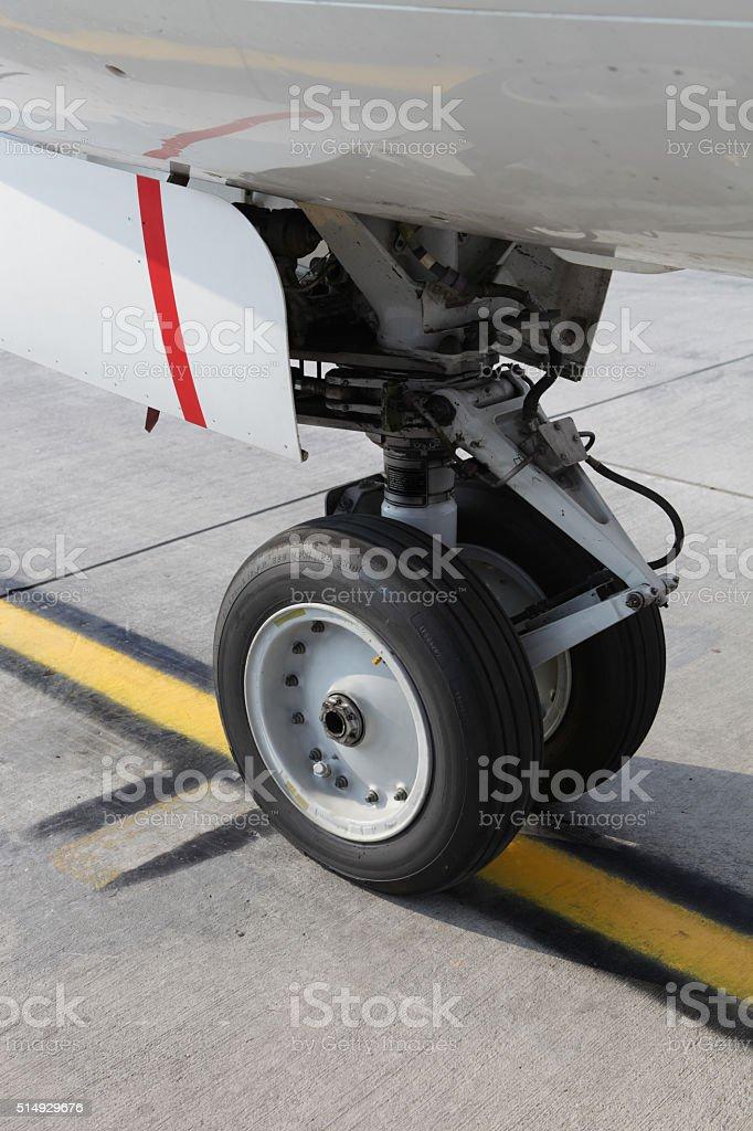 Самолеты колесо Стоковые фото Стоковая фотография