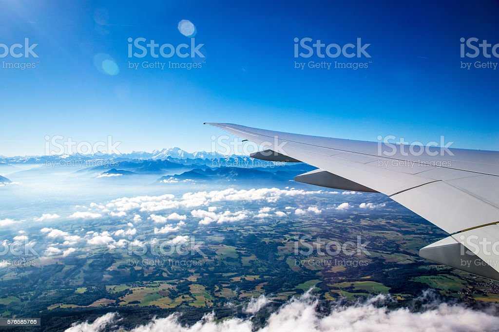 Aircraft Window View stock photo