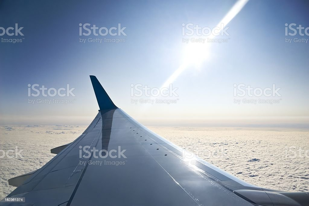 Aircraft wing royalty-free stock photo