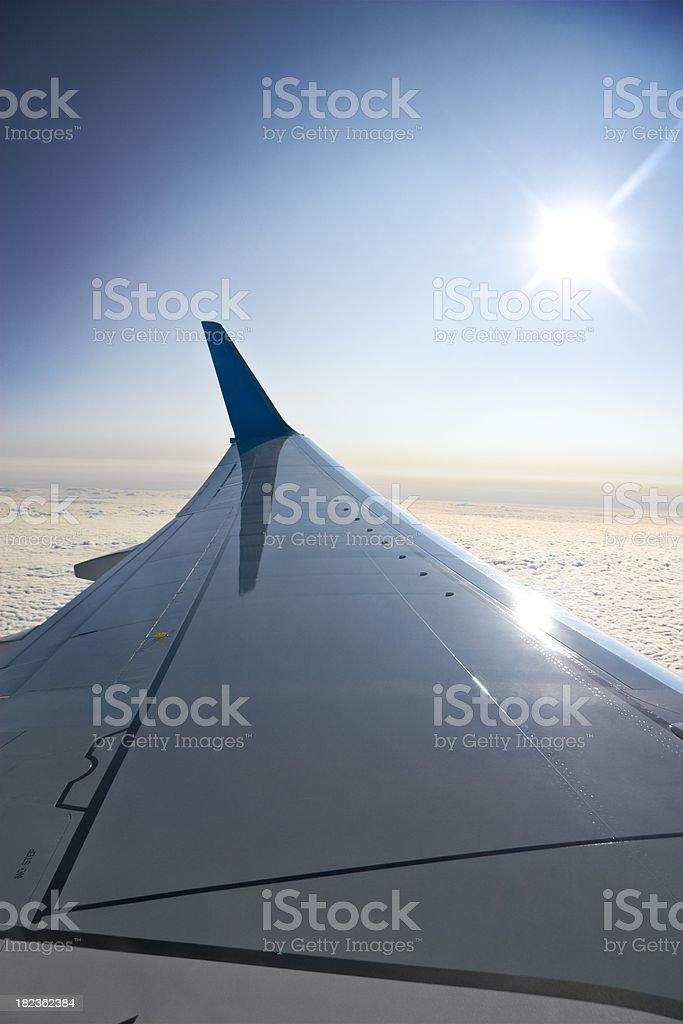 Aircraft wing royalty-free stock photo