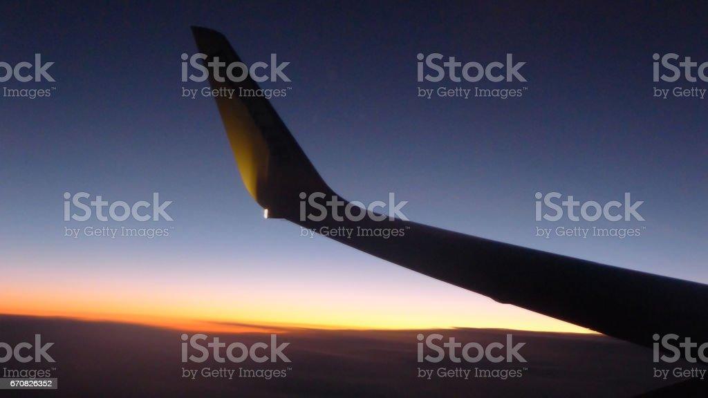 Aircraft Wing stock photo