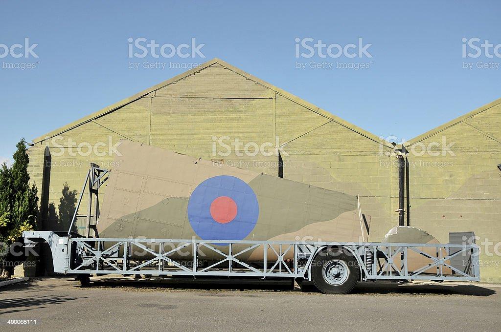 WW2 RAF Aircraft Wing Transporter stock photo