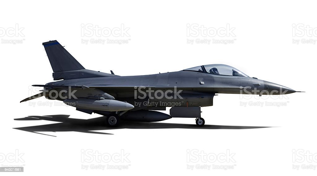 Aircraft with clipping paths royalty-free stock photo