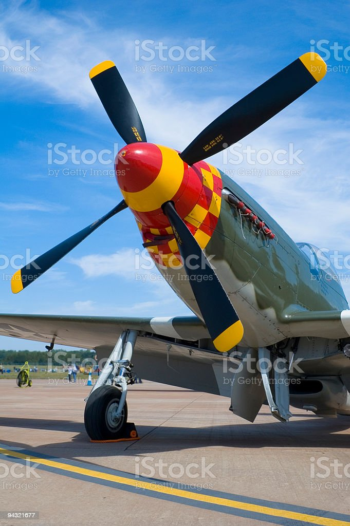 Aircraft with propeller royalty-free stock photo