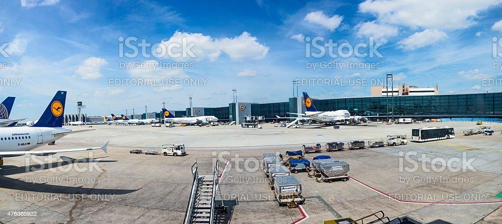 aircrafts park at terminal 1 stock photo