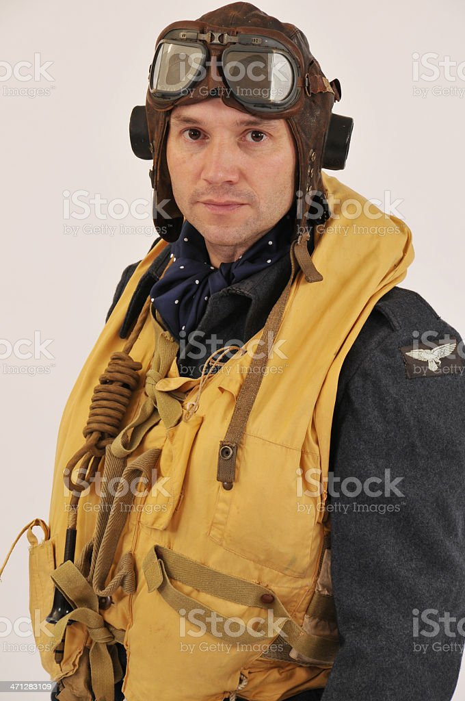 WW2 RAF Aircrew With 'Mae West' Life Jacket stock photo