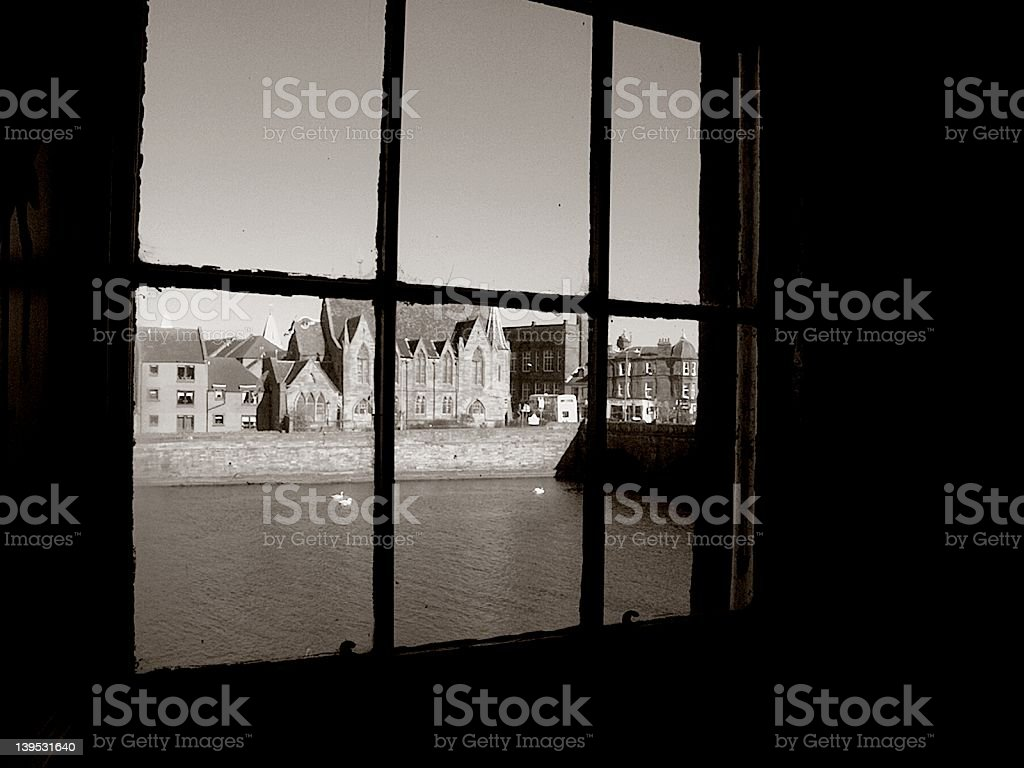 Aire Scotland Vintage View royalty-free stock photo