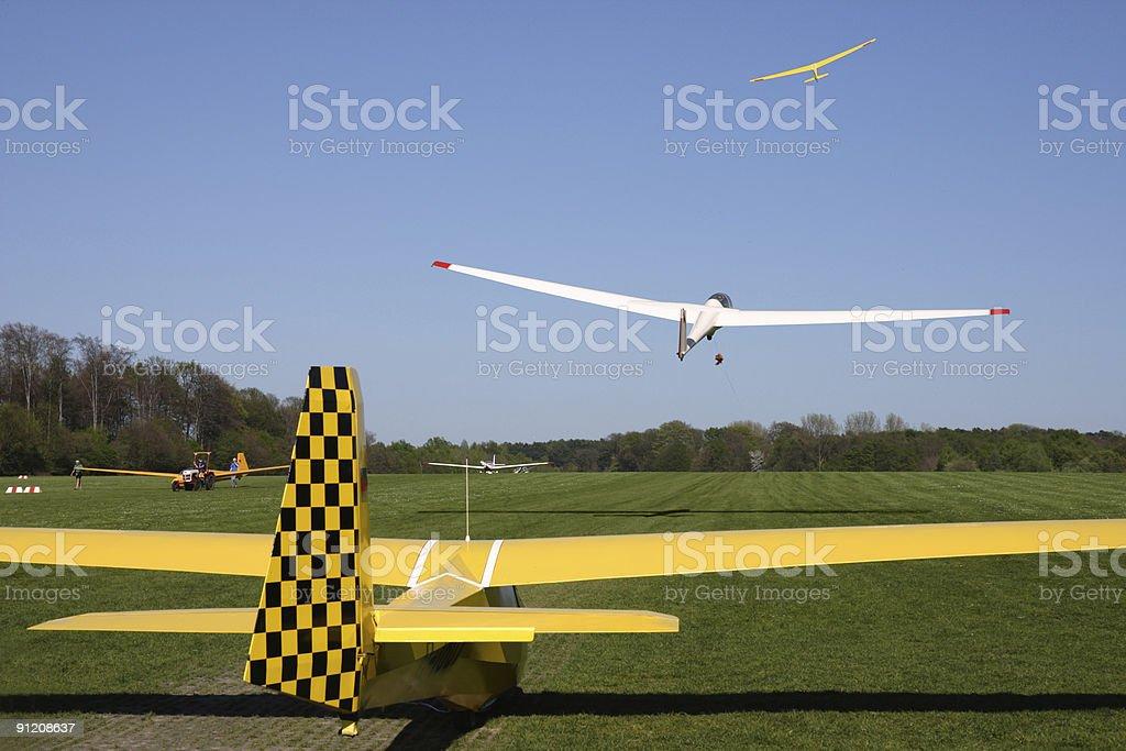 airfeld stock photo