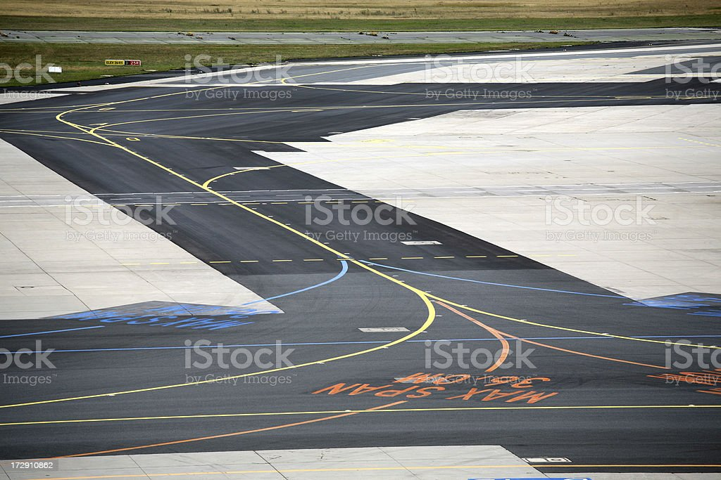 Airfield taxiway royalty-free stock photo