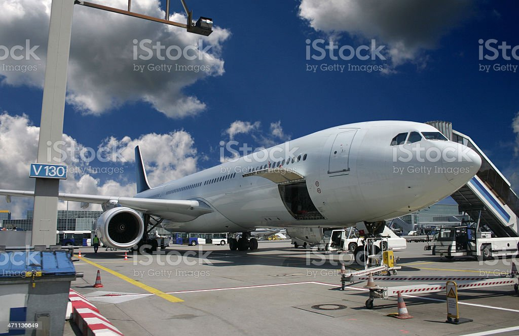 Airfield work royalty-free stock photo