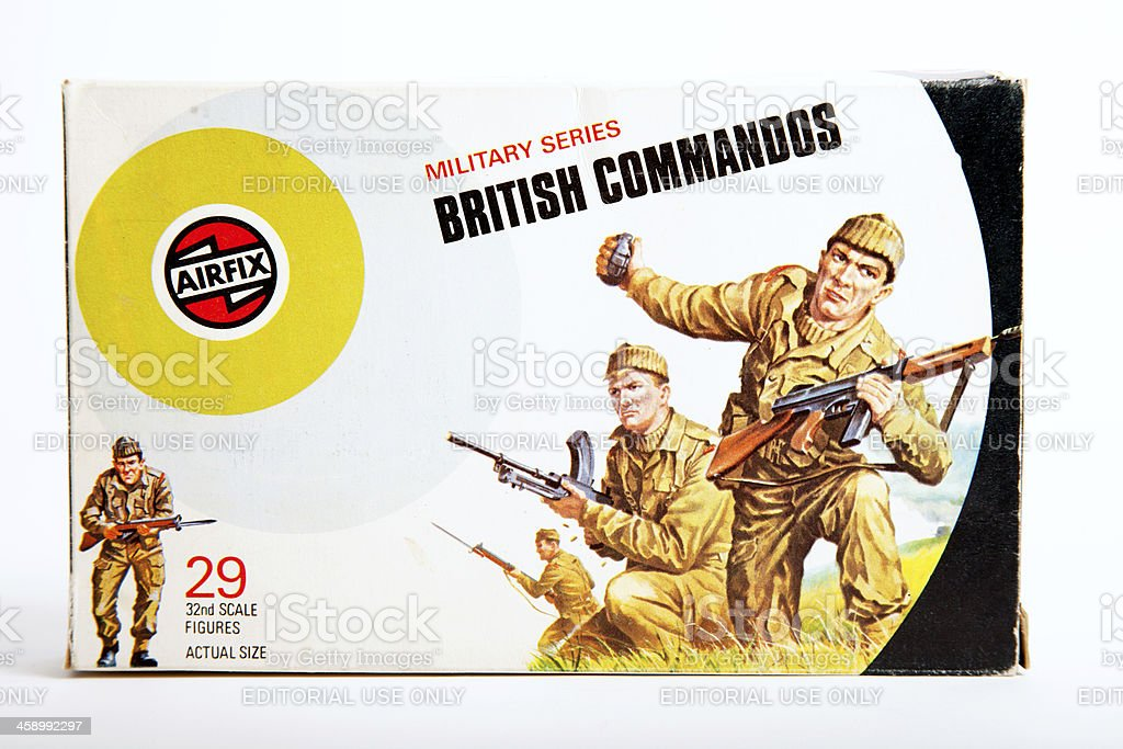 Airfix Box - WW2 British Commandos royalty-free stock photo
