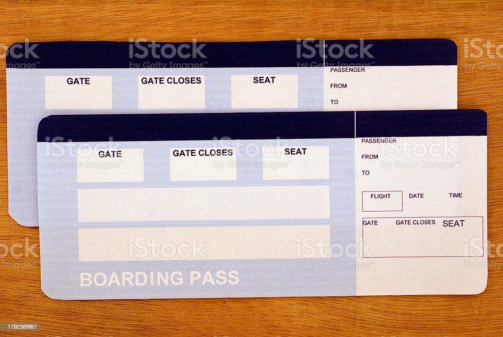 Airflight tickets royalty-free stock photo