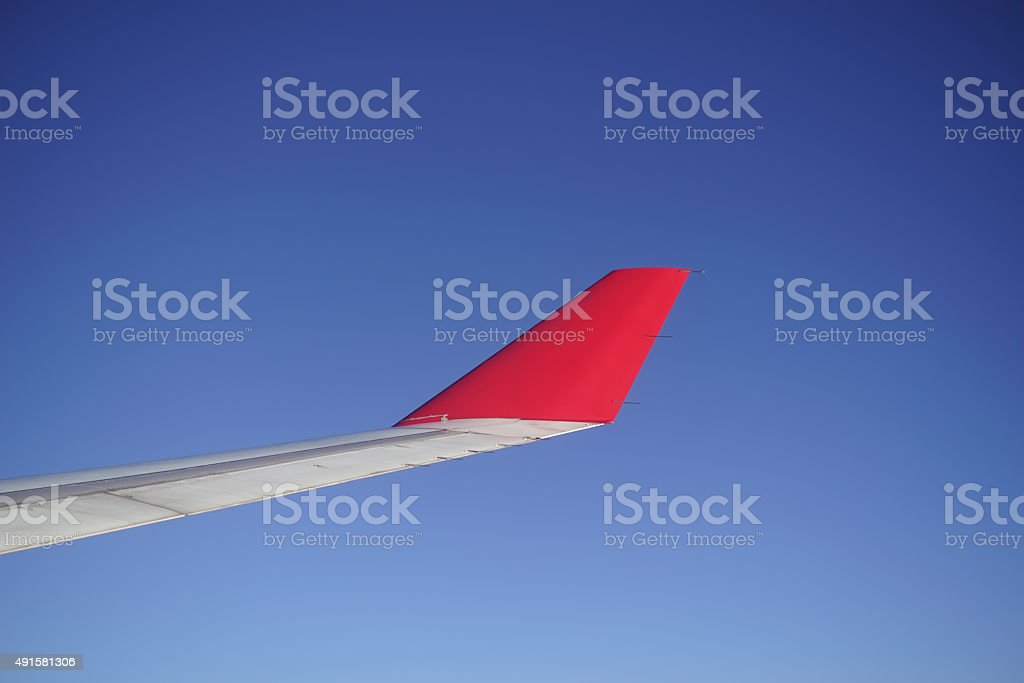 Airfoil in blue sky stock photo