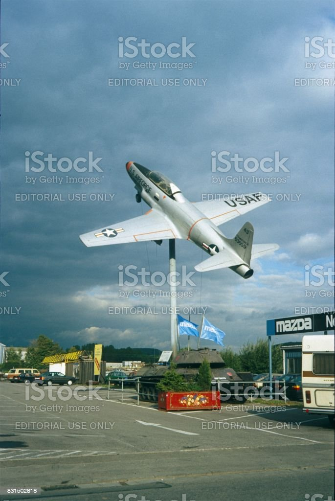 U.S. Airforce Lockheed T-33A Shooting Star stock photo