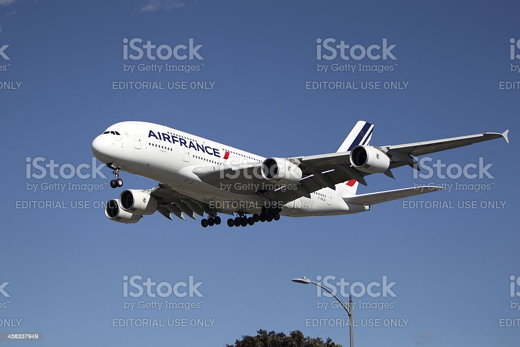 Airfrance airbus A 380 stock photo