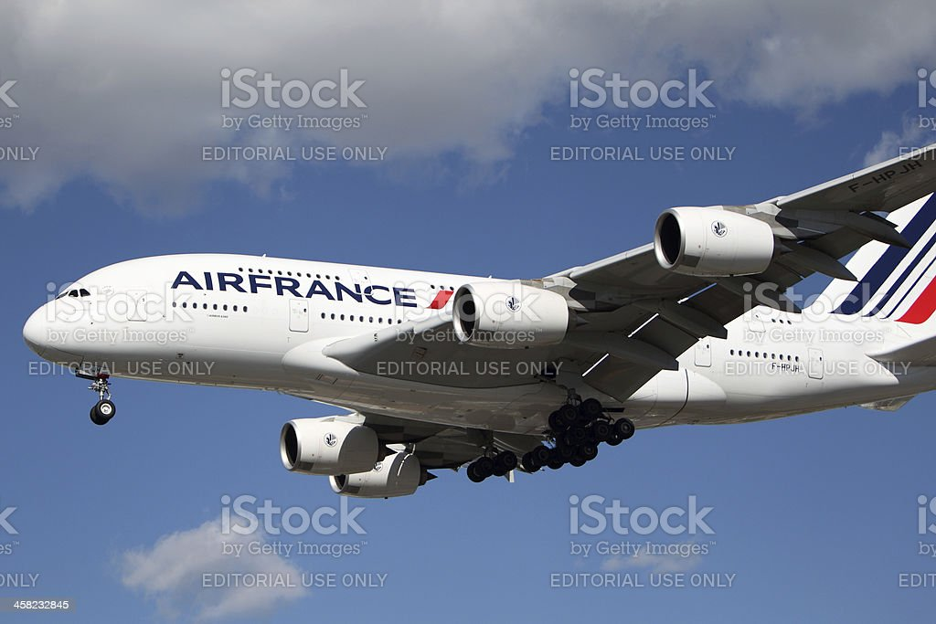 Airfrance Airbus A-380 stock photo