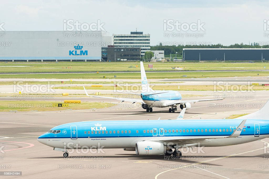 AirFrance KLM airplanes stock photo