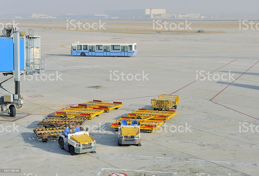 Airfreight at the airport stock photo