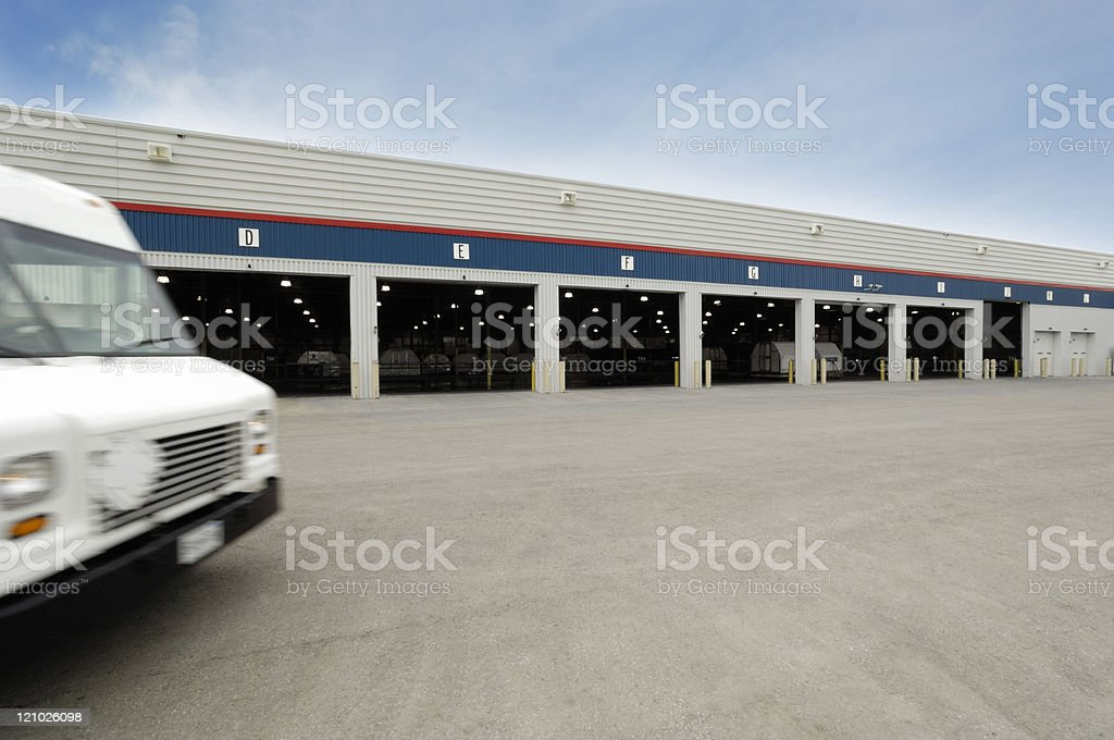 Airfreight courier terminal stock photo