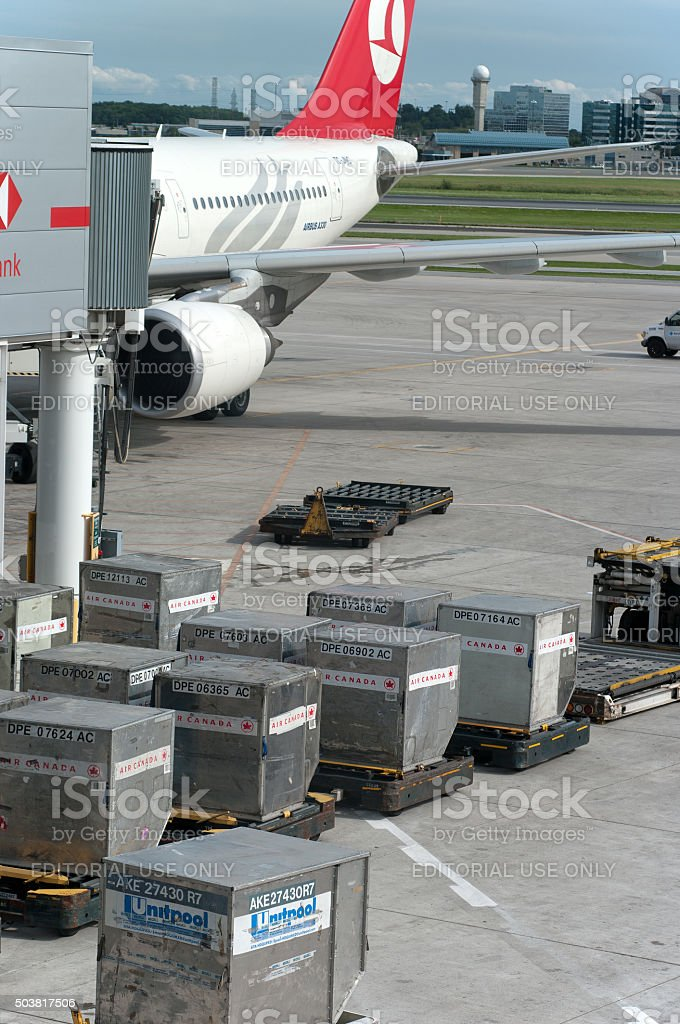 Airfreight Shipping Containers stock photo