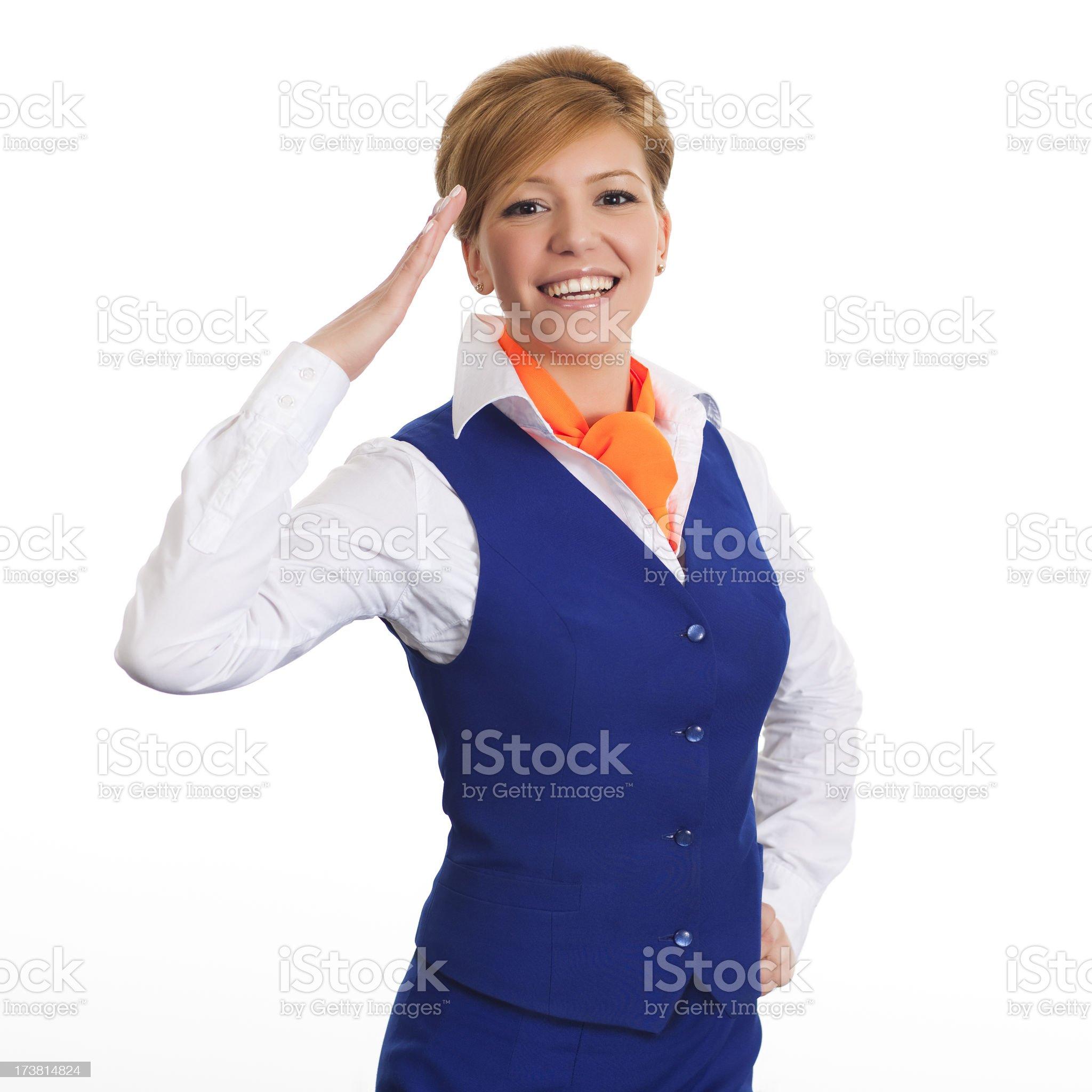 Airhostess royalty-free stock photo