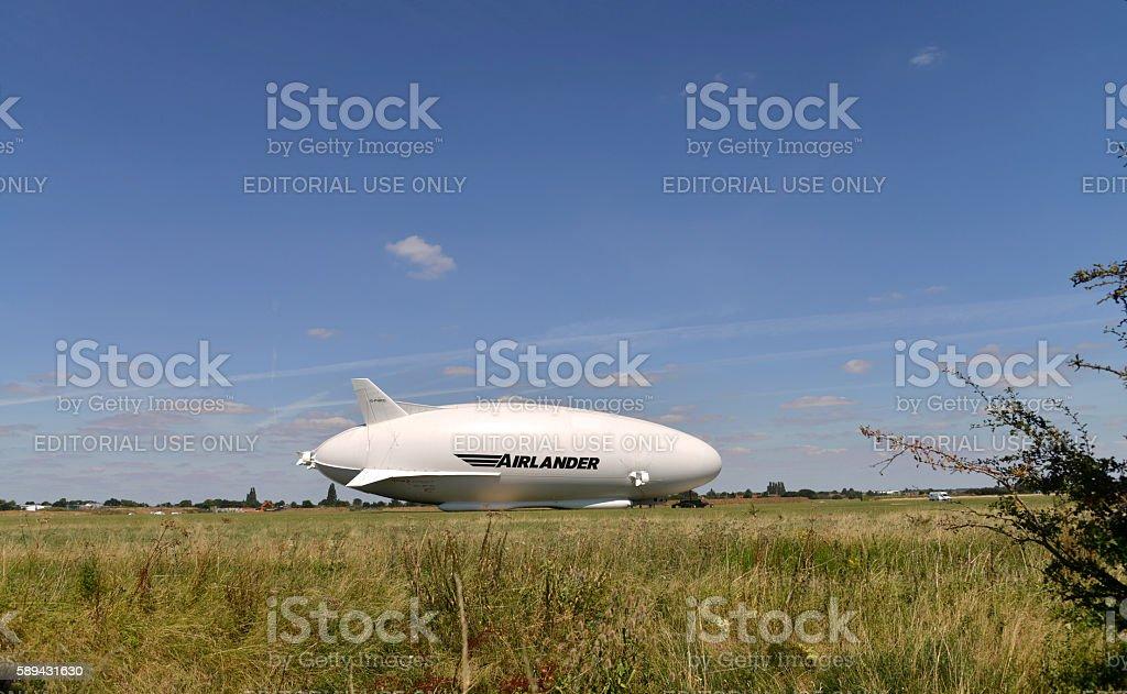 Airlander 10 cocept  Airship aircraft. stock photo