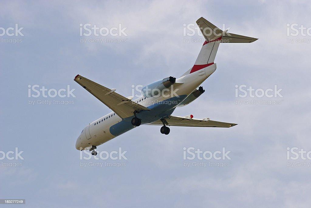 Airlaner at landing royalty-free stock photo