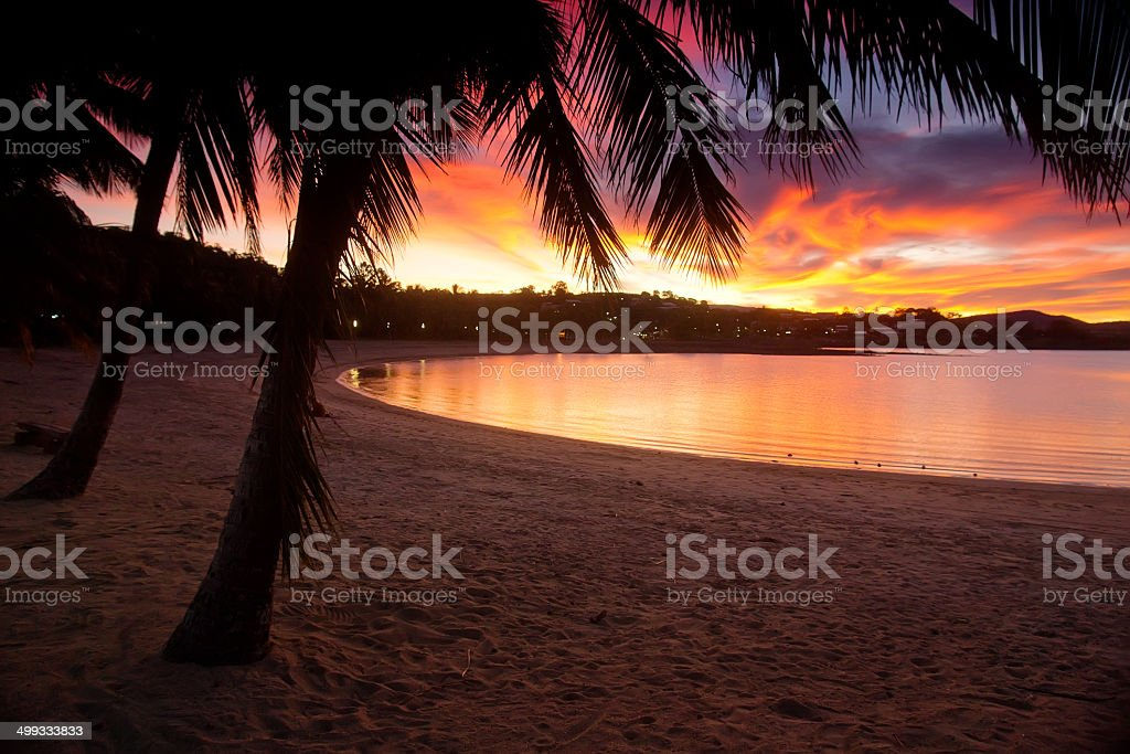 Airlie Beach - Sunset stock photo