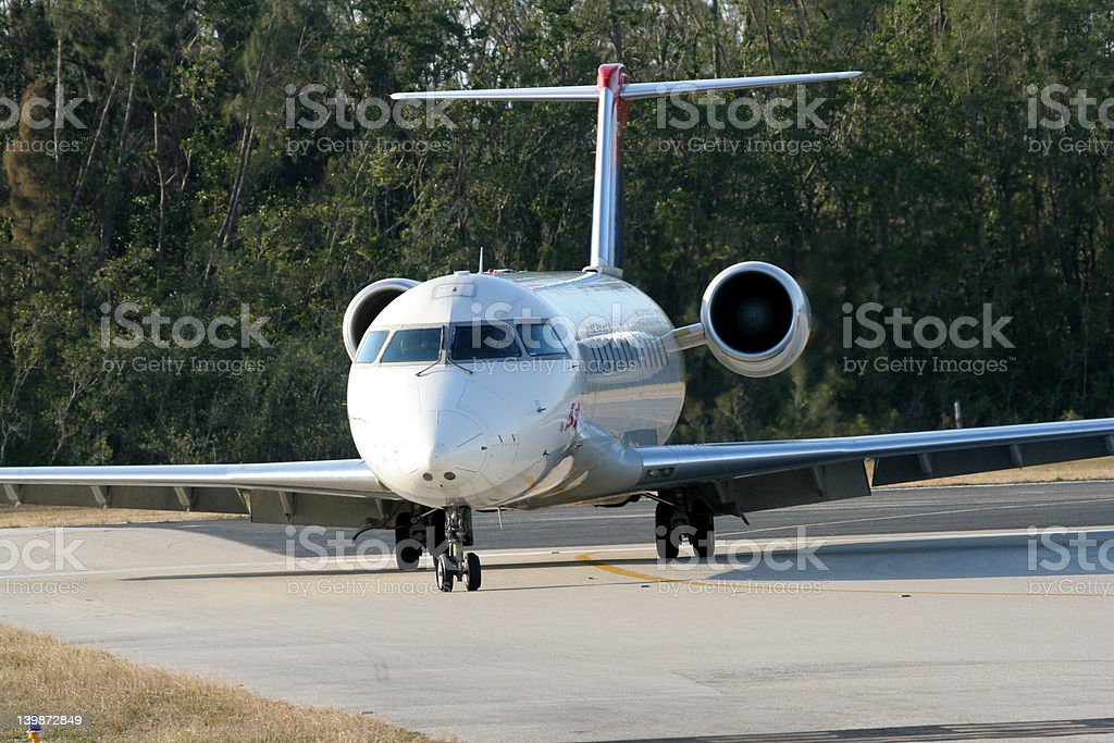 Airline after landing royalty-free stock photo