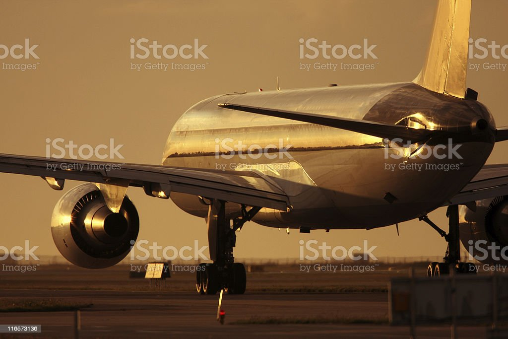 Airline at Sunset royalty-free stock photo