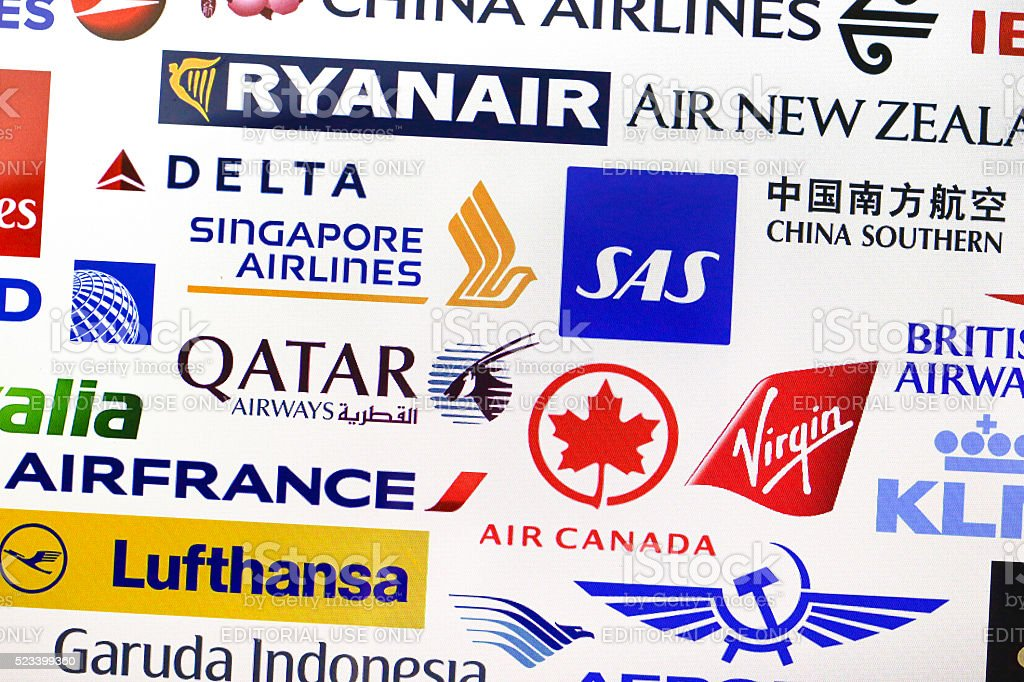 Airline companies stock photo