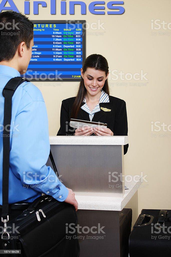 Airline Customer Service stock photo