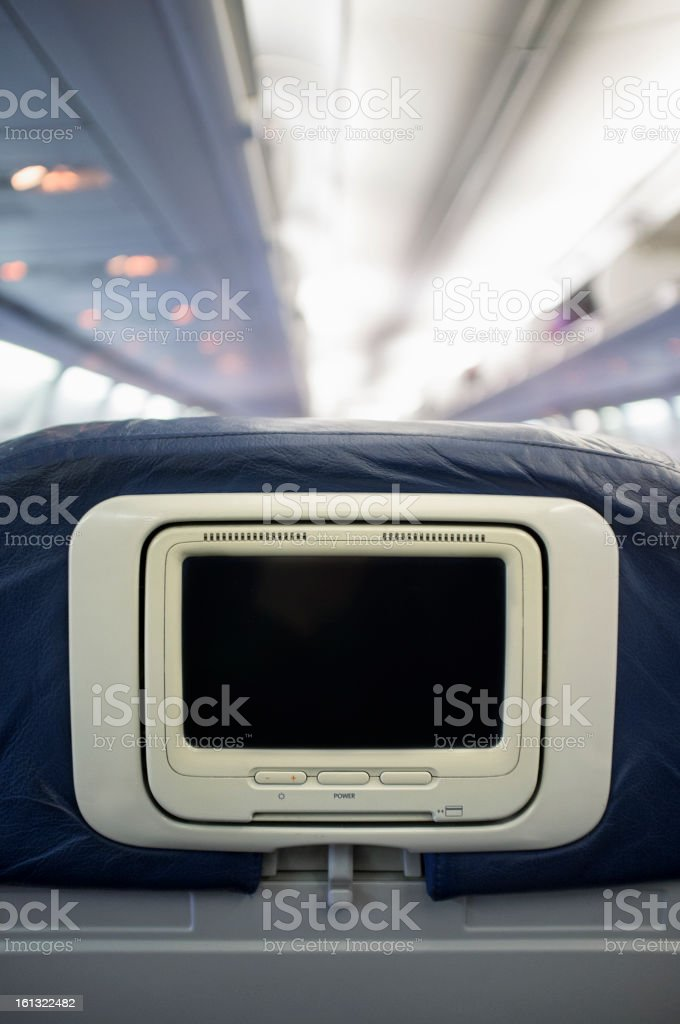 Airline Entertainment Screen royalty-free stock photo