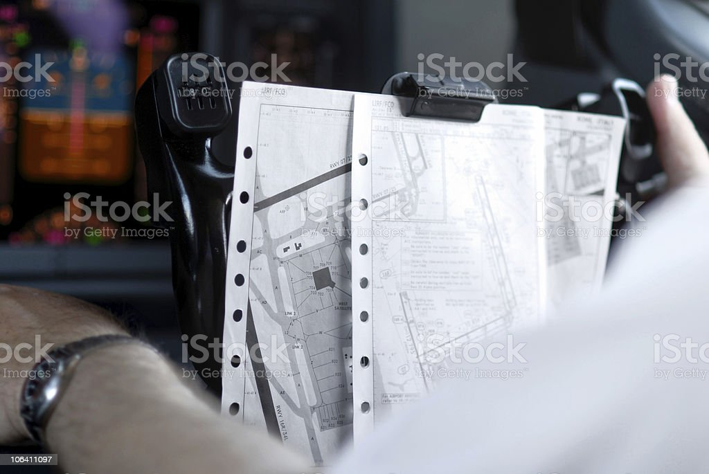 Airline flight deck royalty-free stock photo
