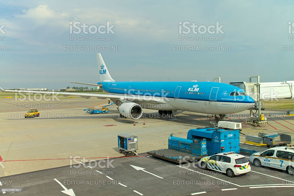 KLM Airline in Netherlands stock photo