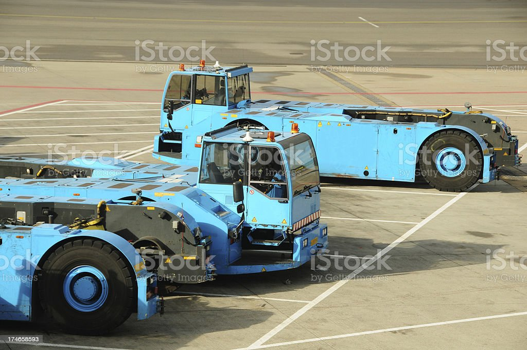Airline Industry - Portable Conveyer Belt stock photo