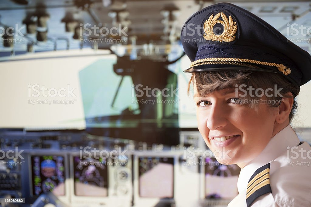 Airline pilot royalty-free stock photo