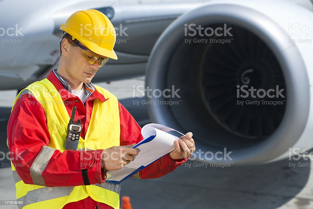 Airline safety royalty-free stock photo
