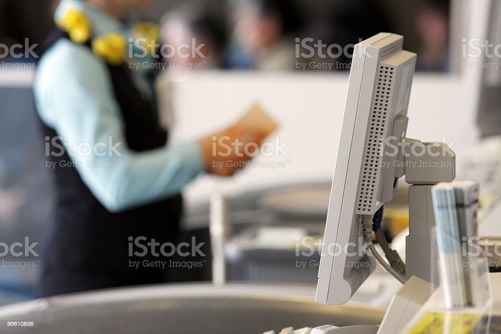 Airline Ticket Agent royalty-free stock photo