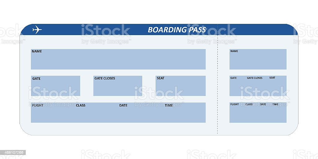 Airline ticket stock photo