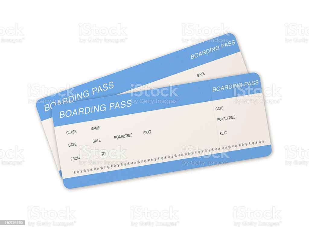 Airline tickets royalty-free stock photo