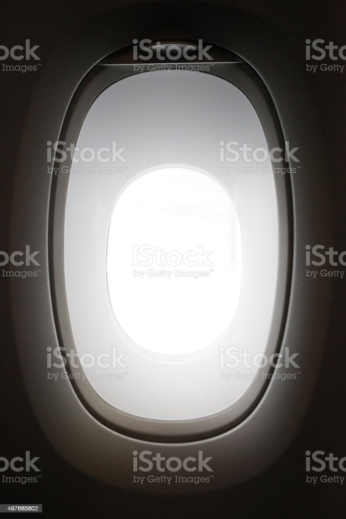 Airline Window on an Airbus 380 stock photo