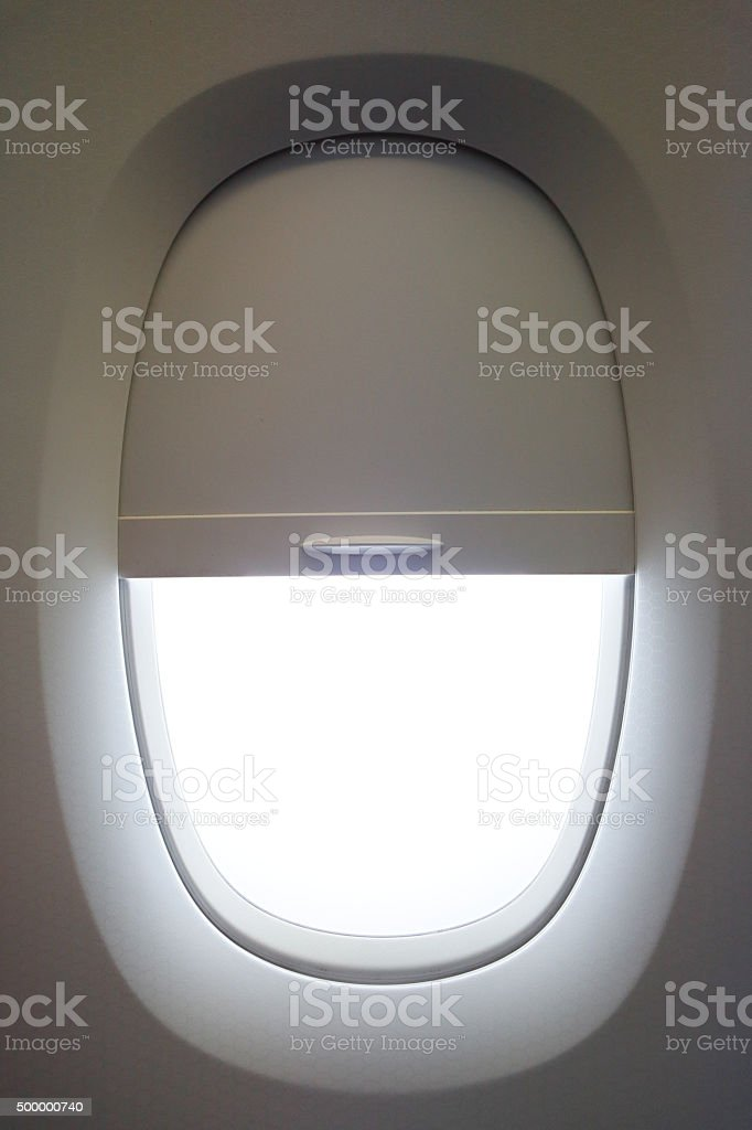 Airline Window stock photo
